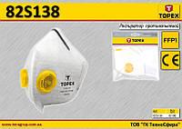Маска защитная с 2 клапанами FFP1,  TOPEX  82S138