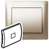 Galea Life Лицевая панель выключателя с индикацией, титан Legrand