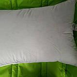 Пуховая, натуральная, мягкая,  невысокая  подушка 50×70, фото 7