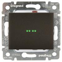 Galea Life Лицевая панель для выключателя одноклавишного с подсветкой, темная бронза Legrand
