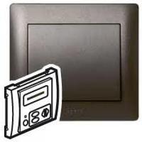 Galea Life Лицевая панель для механизма звуковой трансляции LCD+адаптер, темная бронза Legrand