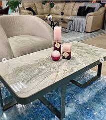 Стол журнальный SHEFFIELD (121*61*41см) керамика светло-серый глянец, Nicolas