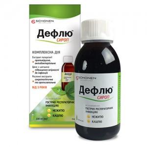 Дефлю сироп -  при острых респираторных заболеваниях, гриппе и простуд (100 мл,Delta,Турция)