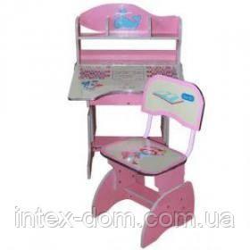 Детская парта со стульчиком трансформер Bambi HB 2878-02(стол-парта растишка) , розовая КИЕВ