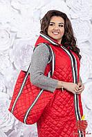 Женская Жилетка и сумка норма