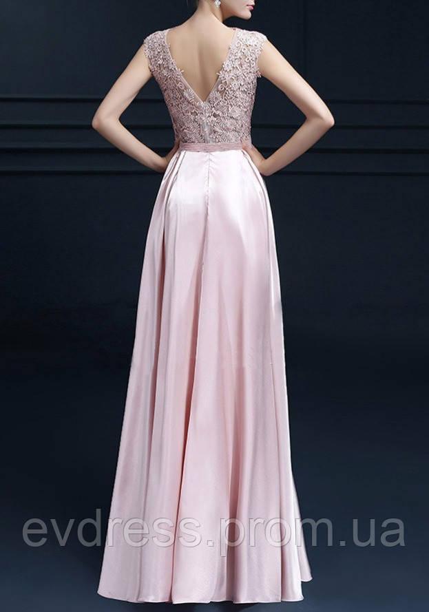 e68c9b11436 Красивое вечернее платье на выпускной в школу нежно розовое DL-50172 -  Интернет-магазин