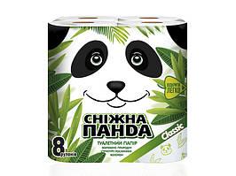 Сніжна панда туал папір 8шт Класік