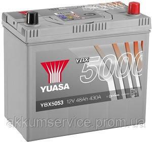 Аккумулятор автомобильный Yuasa Silver HP 48AH L+ 430А YBX5053