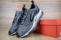 Мужские кроссовки Nike Air Max 720 повседневные массивные на силиконовой подошве в сером цвете, ТОП-реплика