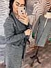 Женский стильный кардиган с отделкой из эко-кожи, фото 6