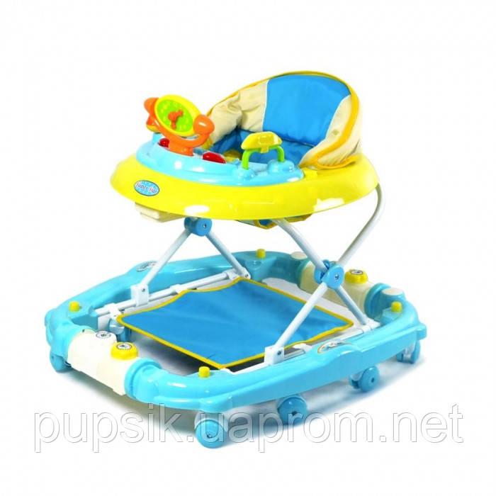 Ходунки детские TILLY 9102 BLUE с качалкой