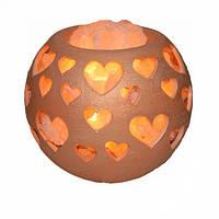 Соляная лампа Любовь-морковь 3,7 кг