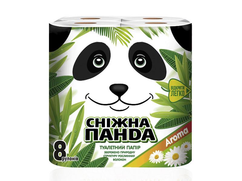 Снежная панда туалетная бумага 8шт Арома