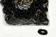 Резинка пружинка черная для волос комплект 100 шт
