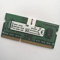 Оперативная память для ноутбука Kingston SODIMM DDR3 4Gb 1333MHz 10600s CL9 (KCP313SS8/4) Б/У, фото 1