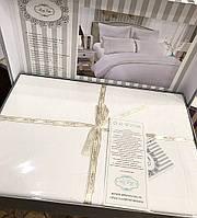 Комплект постельного белья евро Bella Villa сатин.  кружевом