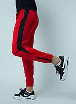Штаны спортивные Rocky (Рокки) красные с чёрной вставкой, фото 2