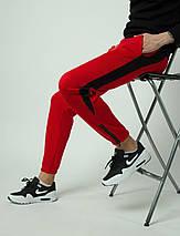 Штаны спортивные Rocky (Рокки) красные с чёрной вставкой, фото 3