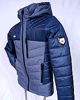 """Куртка весенняя на мальчика """"Комби"""". Синий"""