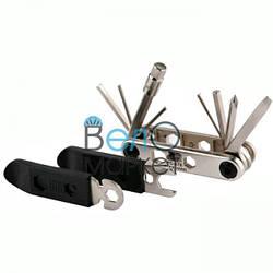 Мультитул BikeHand YC-275 шестигранники 2/2,5/3/4/5/6/8мм и 2 отвертки, бортировки, торцевые ключи, спицной