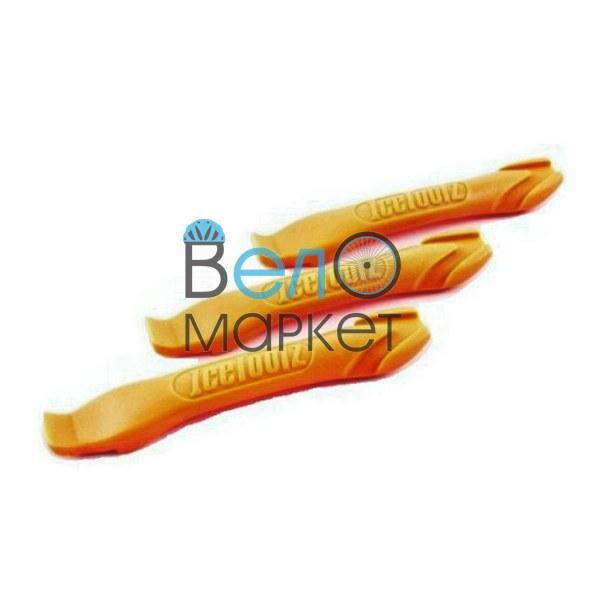 Бортировочные лопатки Ice Toolz для снятия покрышки с обода / пластиковые /оранжевые