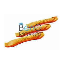 Бортировочні лопатки Ice Toolz для зняття шини з обода / пластикові /помаранчеві