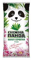 Снежная панда влажные салфетки для рук 15шт Сакура