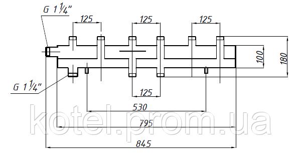 Схема одноблочного коллектора СК 392.125