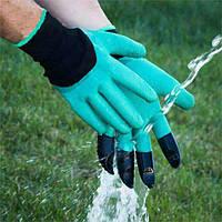 Перчатки садовые с когтями garden gloves для сада, огорода