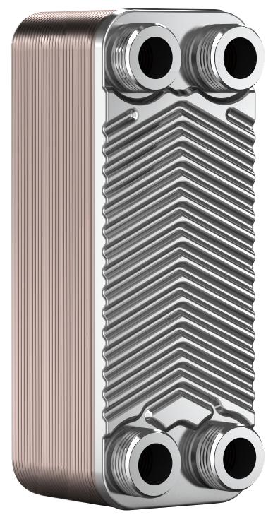 """Теплообменник BADER BL3-012-30Z,  3/4"""" (22-30kW) пластинчатый паянный"""