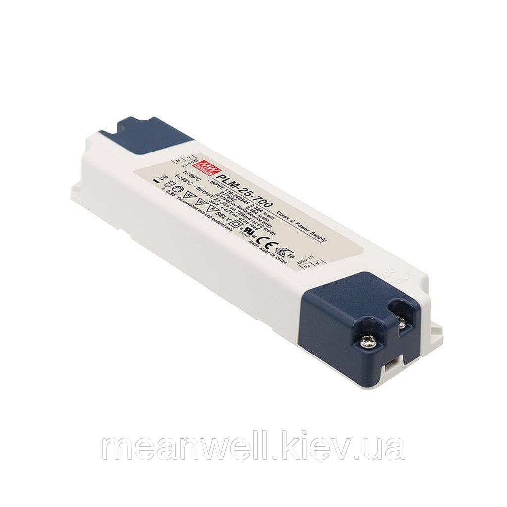 PLM-25-350 LED драйвер Mean Well 25.2 Вт, 42 ~ 72 VDC, 350 мА