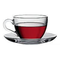 Basic чашка чайная с блюдцем 215мл