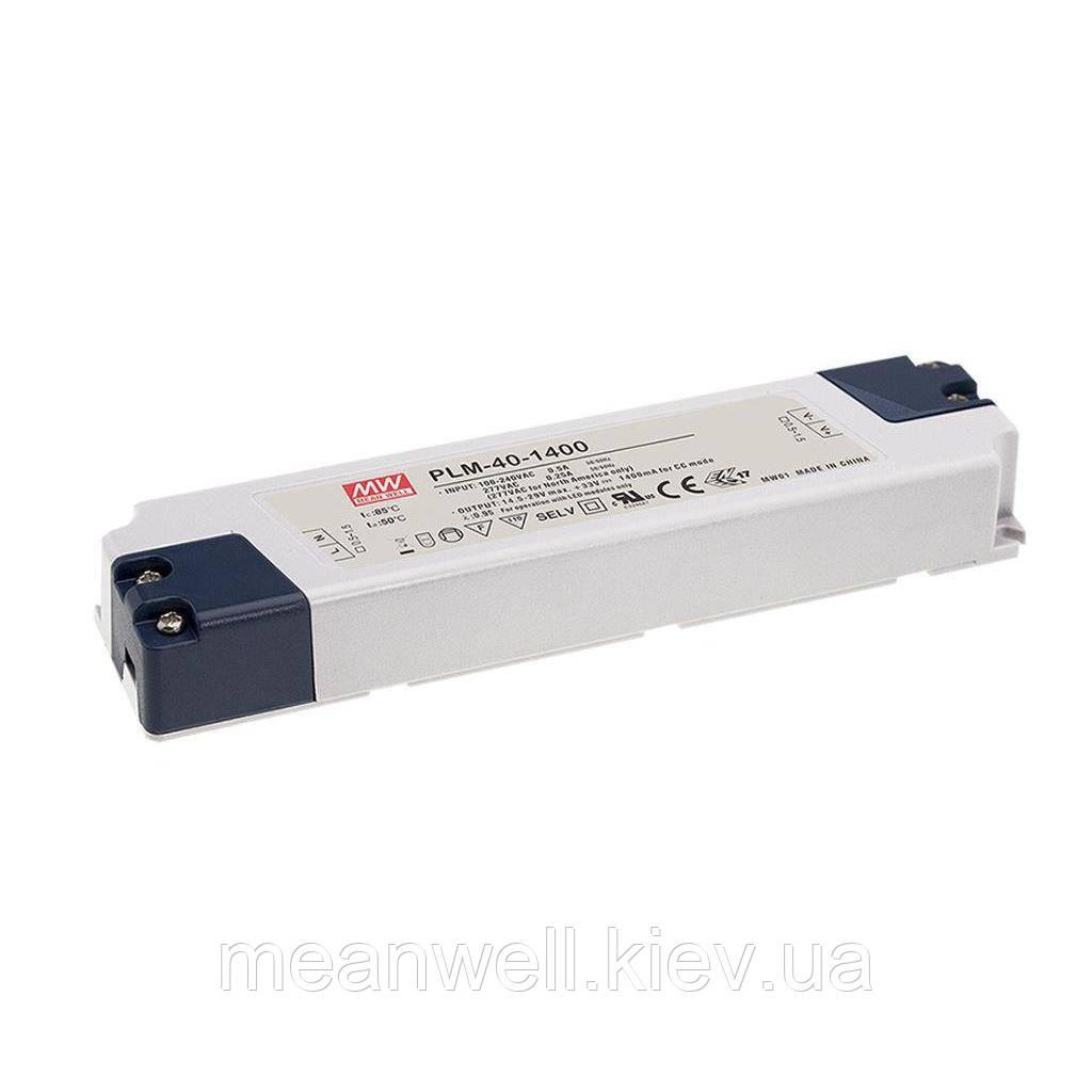 PLM-40-1050 LED драйвер Mean Well 39.9 Вт, 19 ~ 38 VDC, 1050 мА