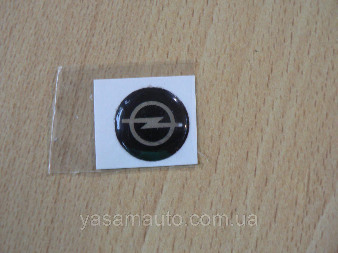 Наклейка s круглая Opel 15х15х1.0мм силиконовая эмблема логотип марка бренд в круге на авто Опель сигналих