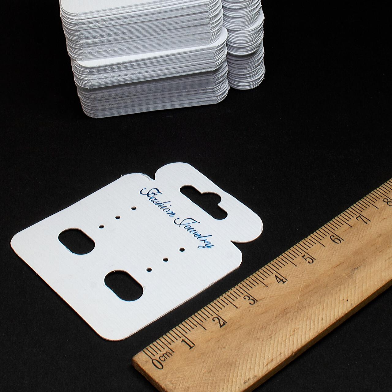 (100шт) Планшетка для бижутерии. Размер 5,6см х 4,8см. Картон. Цена за 100 шт.