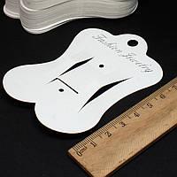 (200шт) Планшетка для бижутерии (резиночек). Размер 9см х 6,8см. Картон. Цена за 200 шт.
