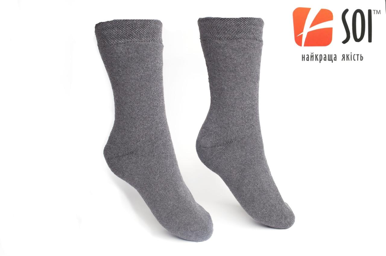 Шкарпетки Чоловічі Махрові 29 р. (43-44) сірий
