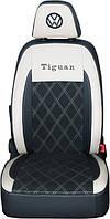 "Модельные чехлы Volkswagen Tiguan I / Фольцваген Тигуан 2011-2015 ""Алькантара"", фото 1"