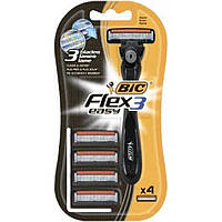 Бритва BIC Flex Easy с 4 сменными кассетами