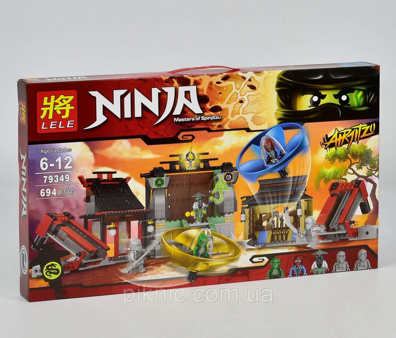 Конструктор Ниндзяго Аэроджитцу: Поле битвы, 694 дет, Детский конструктор Ниндзя, Ниндзяго для мальчиков
