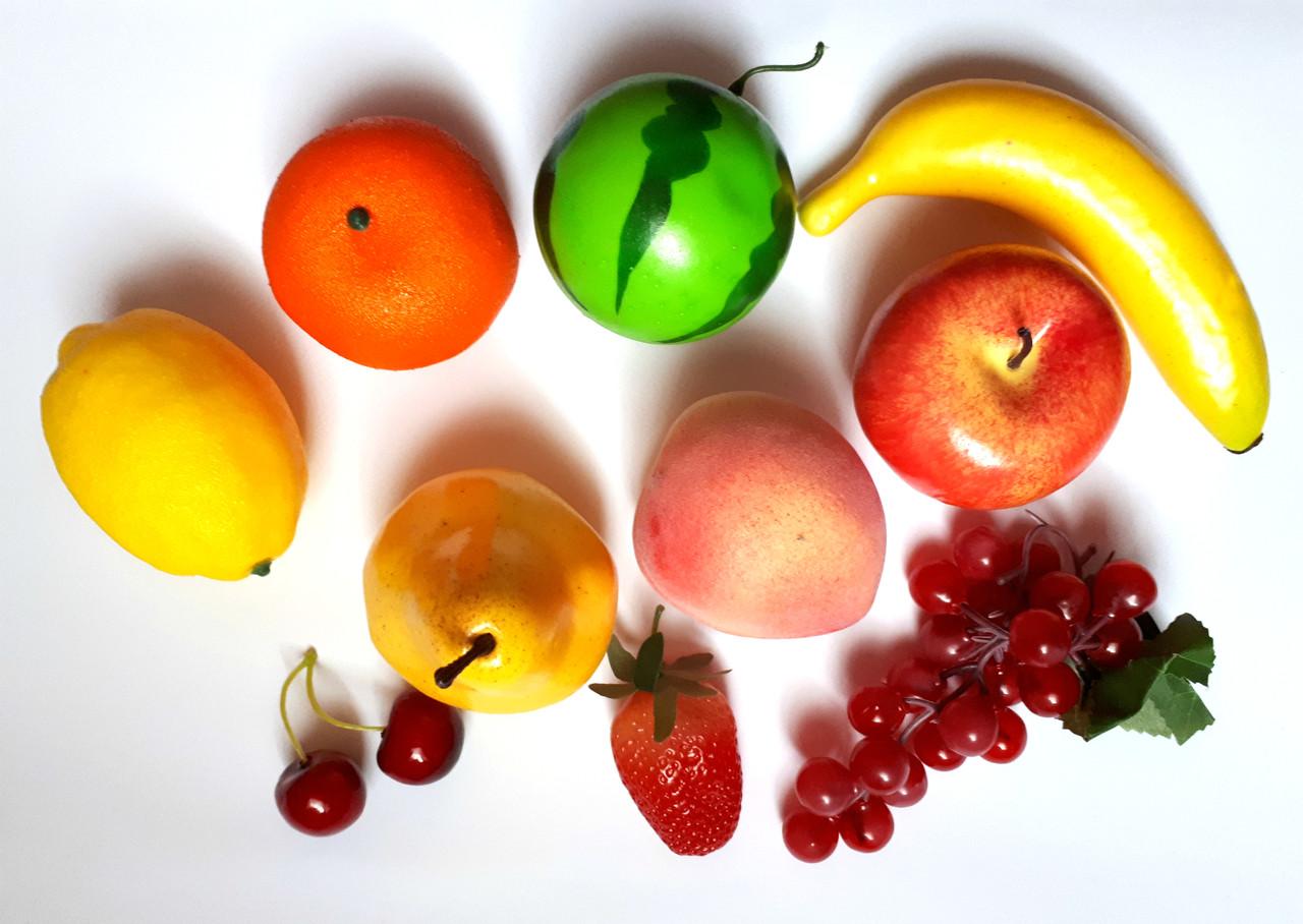 Муляжі «Фрукти» демонстраційний набір 11 фруктів, цена 357,50 грн ...