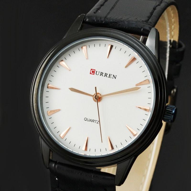 Годинники чоловічі Curren Classic Black-white