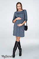 Стильное платье для беременных и кормящих VALENTINE, полынный с принтом*, фото 1