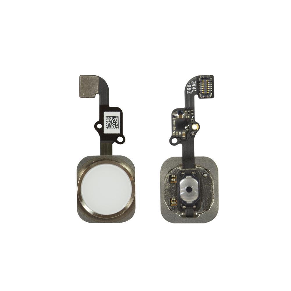Шлейф (Flat, Flex cable) Apple iPhone 6s | 6s Plus с кнопкой меню (Home), золотой