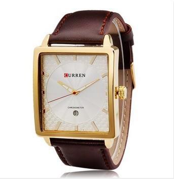 Часы мужские Curren Senator gold white