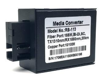 Медиконвертер Raybridge RBP-113 plastic - 10/100Base-TX to 100Base-FX;Bi-Di TX1310/RX1550nm,SC,20Km