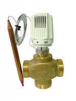 """Трьохходовий клапан з термоголовкою HERZ CALIS-TS-RD DN32 (1 1\2"""") 40-70°C"""