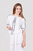 Молодежная летняя блуза ручной вышивки