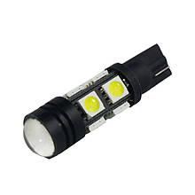 Автолампи світлодіодна T10 W5W 8 SMD 5050+ лінза 1,5