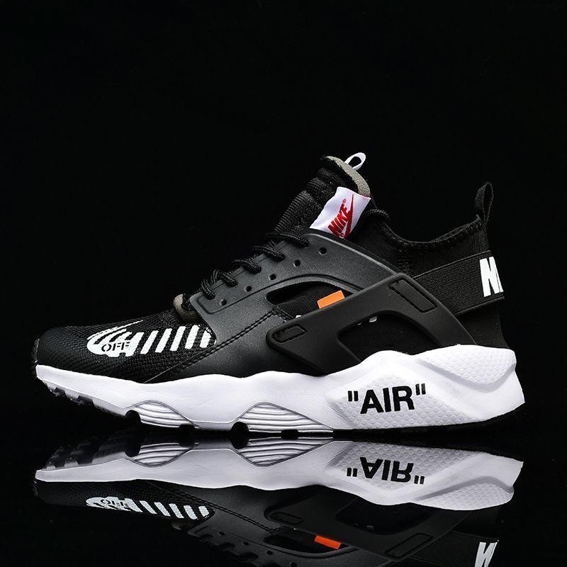 quality design 98eb6 b8f01 Кроссовки Nike air huarache x off-white черные с белым ЛЮКС копия (живые  фотографии)